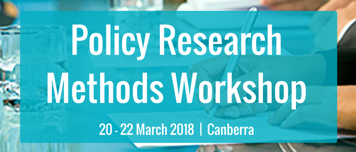 Policy Research Methods Workshop