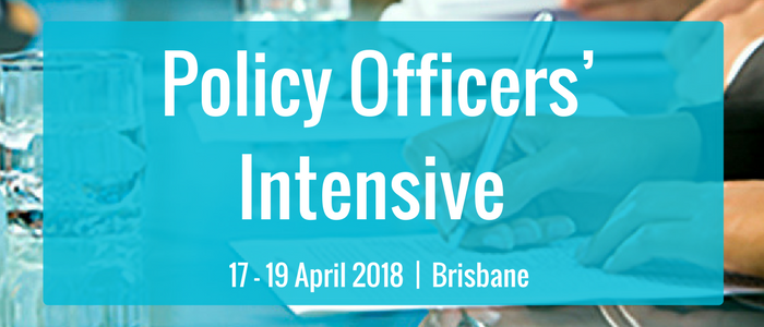 Policy Officers' Intensive