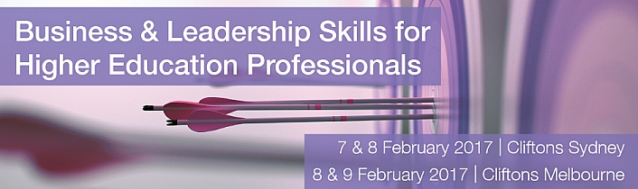 Business & Leadership Skills for Higher Education Professionals