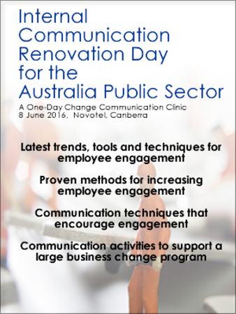 Internal Communication Renovation Day for the Australia Public Sector
