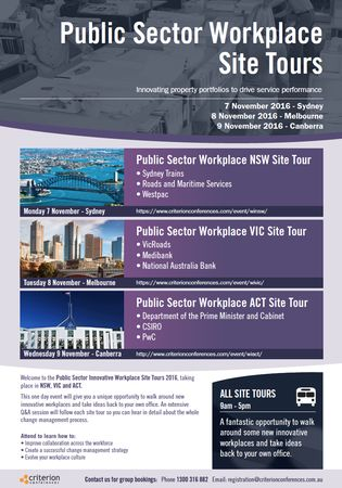 Public Sector Workplace Site Tours - ACT