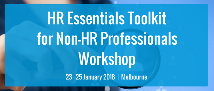 HR Essentials toolkit for Non-HR Professionals Workshop