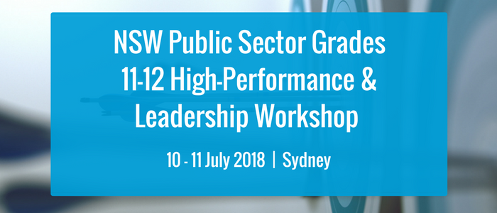 NSW Public Sector Grades 11-12 High Performance & Leadership Workshop