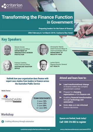 Transforming the Finance Function in Government