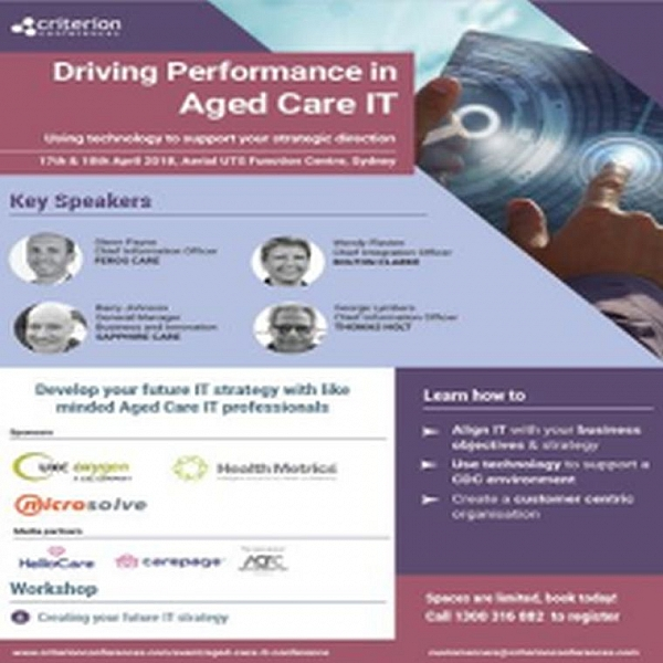 Driving Performance in Aged Care IT