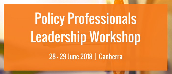 Policy Professionals Leadership Workshop