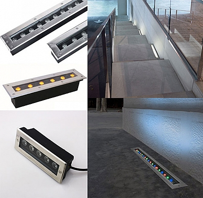 LED Linear In Ground Uplights