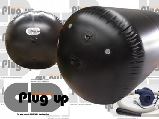 plug up inflatable isolation plug by giant inflatables industrial solutions. Black Bedroom Furniture Sets. Home Design Ideas