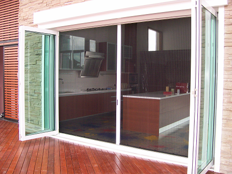 Retractable fly screens for bi fold doors french and for French door mosquito screen