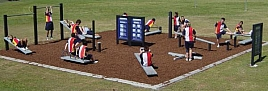 Outdoor exercise stations by REPLAS, VIC 3201