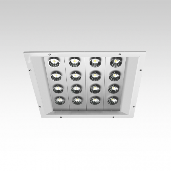 Kanopi recessed led industrial area light by gamma for Recessed area