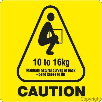 Label Caution Weight 10 16kg By Wilcox Safety Amp Signs