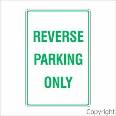 Reverse Parking Sign By Wilcox Safety Amp Signs Pty Ltd