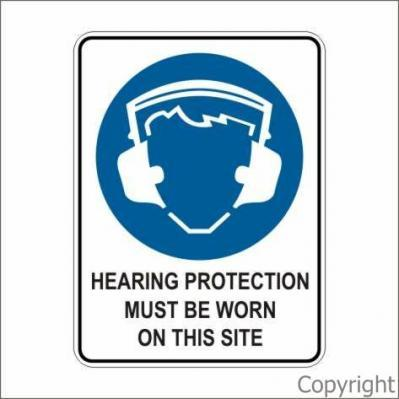 Picto Hearing Protection 450x600 By Wilcox Safety Signs Pty Ltd