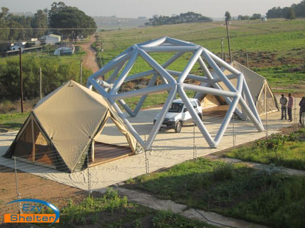 Temporary Industrial Shelters : Inflatable air beam portable shelter ezy xbeam