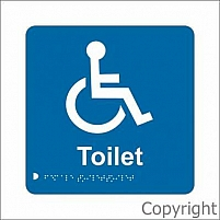 Braille accesible toilet - 180 X 180 by WILCOX SAFETY & SIGNS PTY LTD, VIC 3180