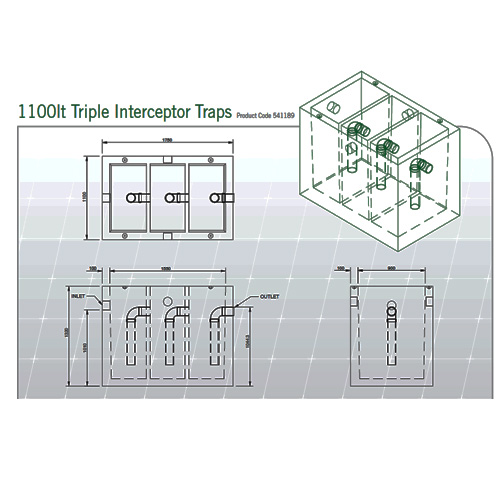 Cubis Silt Trap Grease Interceptor Traps And Triple