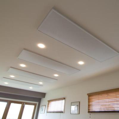 Electric radiant ceiling heaters by heat on heating systems for Electric radiant heat efficiency