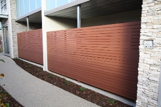 Enviroslat fencing slats by futurewood for The range decking boards