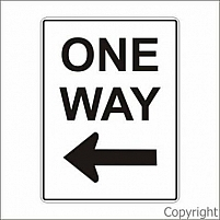 One Way Left Arrow Sign by WILCOX SAFETY & SIGNS PTY LTD, VIC 3180