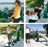 HealthBeat outdoor fitness system by PARKEQUIP, NSW 2164